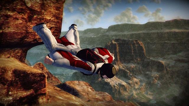 Voi in caduta libera in un canyon. Si potrebbe quasi definire una giornata noiosa.